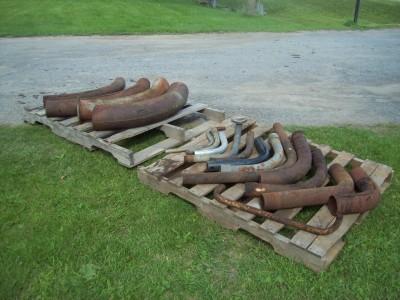 Coude, acier, tuyaux, agriculture, entreposage, silo, silo à grain, silo à ciment
