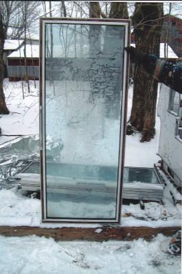 Vitres, portes fenêtres, réfrigérateur