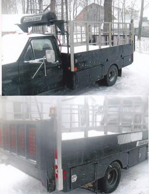 Boite de camion, transport, service, camion de service, lift hydraulique, Tail lift