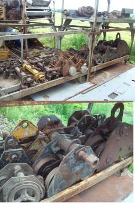 Trolley, Palans, Chariots, Chariots sur rail, Roues pour appareil de levage, Support de charge, entrposage, Treuils, winch