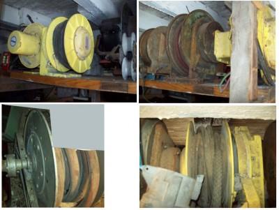 Bobineuse à fil, boyaux à l'huile, extension, enrouleuse, graissage de garage, graisse à l'huile, enroulement de boyaux à air, eau, arrosage, enroulement de boyaux à l'eau
