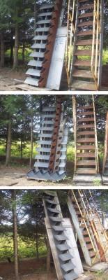 Escalier, rampes, Escabo, Paliers, Construction, Escaliers amovibles