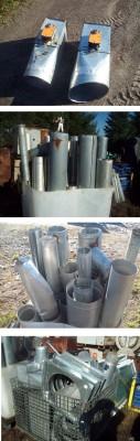 Ventilation, Aération, Chauffage, Climatisation, Tuyaux, Trappes, Composantes systèmes d'aération