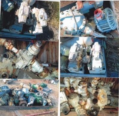 Pompes, hydrauliques, lubrification, refroidissement, Cylindres, valves, moteurs, pompes