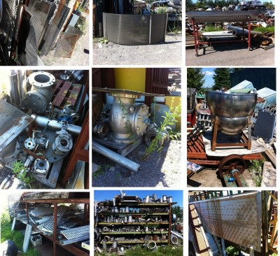 Stainless, boulons, vis, shaft, cuve, grillages, valves, tuyaux,plaques, tamis, Gamelle